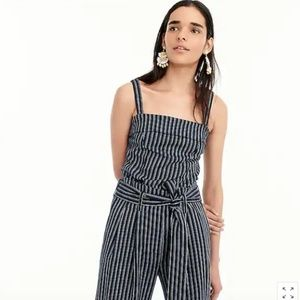 J.Crew top in striped linen-cotton Size 0